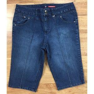 Style & Co. Bottoms Up Capri Jeans 14 (35Wx16L)